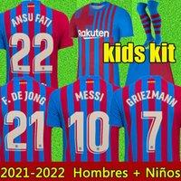 21 22 برشلونة لكرة القدم جيرسي 2021 2022 ميسي أنسو فتي كاميسيتا فوتبول جريزمان دي جونج مايلوتس تايلاند لكرة