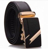 2021designerLannyQveen newlv Men's Automatic buckle belts 100%Genuine Leather Belt for men factory wholesale OEM custom