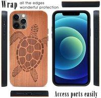 Деревянные шкафы для iPhone 12 PRO 11 XS MAX XR 7 8 бамбук пользовательских дизайна Абоназорное дерево Samsung Galaxy S21 S22 + Ultra Cover