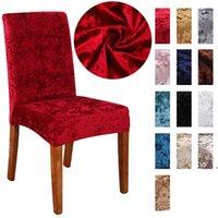 Cubiertas para sillas Pleuche Sillas Sólidas Sólidas Sólidas Cubierta Elástica Lavable Hoja de Banco Decoraciones de Boda FWB7298