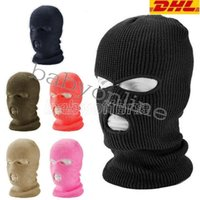 3 Hole Full Face Mask Ski Mask Winter Cap Balaclava Hood Motorbike Motorcycle Helmet Full Face Helmet Army Tactical Mask Hot