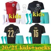 2021 오스트리아 키트 키트 축구 유니폼 청소년 소년 자식 20 21 David Alaba 홈 멀리 ArnaUtovic Sabitzer Grillitsch Camisetas 축구 셔츠