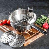 Yomdid картофель masher из нержавеющей стали овощные фрукты пюре прессованный инструмент тыква шлифовальщик еда пюре кухонные аксессуары 210406