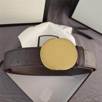 Cinturini da donna classici da donna Black Brown Belt per uomo Lettera di moda Lettera di moda Impronta Big fibbia 3.8 cm Larghezza 210563V