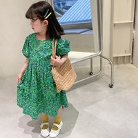 SK INS Newest Kids Little Girls Dresses Floral Summer Bountique Children Clothes Outfits