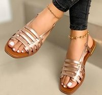 Sandals Flat Shoes Woman Plus Size Sandles Sexy Fashion Beach Slides Women Summer Sandalias Mujer Sapato Feminino SF0171