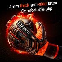 Nuevo diseño profesional de fútbol portero de fútbol glvoes látex protección dedo niños adultos fútbol portero guantes