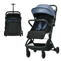 Tasarımcı Lüks Arabası BabyJoy Hafif Bebek Katlanabilir Seyahat Uçak Gri BC10002GR