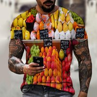 Men's T-Shirts Personalized Casual Short Sleeve T-shirt Print Fashion 3D Style Length(cm) Tops Type Pattern Item