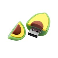 Cartoon Fruit USB Flash Drive 32GB Cute Lemon Pendrives2.0 Avocado Storage Disk Memory Stick Real Capacity 64GB Funny Gift 128MB