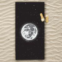 Towel Full Moon Quick-drying Large Beach Portable Printing Microfiber Adult Bath Terry Drop