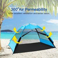 خيمة التخييم خفيفة Ultralrige -up في الهواء الطلق شبكة الشاطئ الترفيه صافي لشخص يتلع من خيام المأوى الشمس والملاجئ