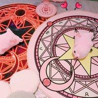Anime Cardcaptor Sakura Kinomoto Round Carpet in the living room Decor Fluffy Rugs Anti-Skid Shaggy Bedroom Carpets Floor Mats