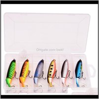 Fish Pet Supplies Home & Garden-6Pcs With Box Whopper Plopper 100Mm 13G Floating Fishing Lure Artificial Hard Bait Wobbler Rotating Tail Aqua
