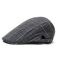شبكة البيريه أشعة الشمس القبعات الصلبة اللون الأمام قبعة القبعات البيسبول عارضة القبعات المألوف الرجال الربيع والخريف الكورية WMQ945