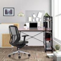 الأثاث التجاري، مكتب الكمبيوتر 47 بوصة مع رفوف التخزين دراسة طاولة الكتابة للمكاتب المنزلية، نمط بسيط حديث