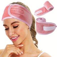 Shower Caps Women Adjustable Hairband For Wash Face Head Bands Hair Band Soft Headband Turban Accessories Girls Makeup Headwear