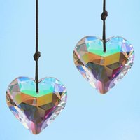 Ogród Dekoracje 45mm Kryształ Suncatcher DIY Serca Wisiorek Prism Maker Dekoracji Żyrandol Rainbow Outdoor D8Q2