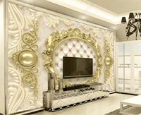 Custom Any Size Luxury 3D Wallpaper European Style Home Decoration Photo Wall Painting Living Room Hotel Mural