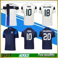 2021 2022 Finnland Fussball Jerseys Set 21/22 Pukki Skrabb Raitala Pohjanpalo Kamara Sallstrom Jensen Lod Home Away National Team Football Hemd Uniformen