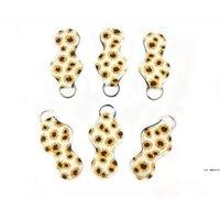 Neoprene Keychain Esportes Impresso Chapstick Holder Leopard Keychain Envoltório Batom Titulares Lip Capa Favor Favor Presente 61 Designs Hwe6060