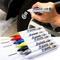 Pneu à prova d 'água da roda de carro pneu pintura oleosa marca pena auto borracha pneu pneu piso de pneu metal marcador de tinta permanente