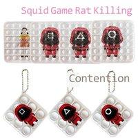 Korean TV squid game toys fidget key chain poppers board game 123 wooden man robot girl red tracksuit killer print keyring bag pendant christmas gift props G04U0PI