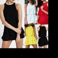 Clubwear Feriado Verão Mini Mulheres Vestido Chiffon Playsuit Romper Beach Shorts
