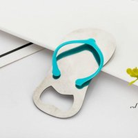 Creative Beach Flip-Flop Shoes Shape Openers Beer Bottle Opener With Gift Box Wedding Favor Gifts AHE6208