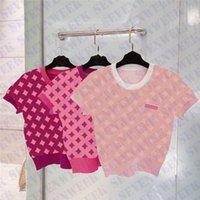 Kısa Kollu Bayan Knits Tops Giyim Tasarımcılar Mektup Bayanlar T Shirt Moda Rahat Yaz Tshirt