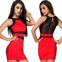 Bayan Tasarımcı Bodycon Elbiseler Seksi Siyah Şeffaf Örgü İplik Panelli Elbise Gece Kulübü Bayan Mini Elbise