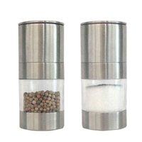 Paslanmaz Çelik Manuel Tuz Biber Değirmen Öğütücü Taşınabilir Mutfak Değirmeni Muller Ev Mutfak Aracı Baharat Sosu Öğütücü Biber Değirmen DBC BH3495
