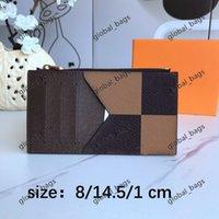 카드 홀더 카드 홀더 2021 Hotsale 도매 남성 여성 패션 원래 검은 가죽 ID 카드 소지자 클래식 레트로 패턴 격자 무늬 고체 colormulti-bit