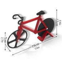 Bakeware велосипед в форме пиццы резание двойные резки колес нож велосипед слава с подставкой инструмент кухонные гаджеты OWE7061