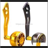 Carrete de baquetas Tambor Rueda de gota Modificado MANGO ROCKER 8 * 5MM Reel de pesca de aleación de aluminio Único ARM 8ZXAX 3AJPQ