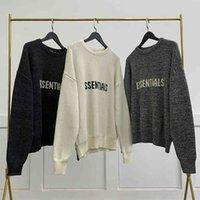 fog essentials hoodies womens mens cardigan sweater Leisure men women designer tracksuit essential sleeve letter hoodie hoody knitting xwl