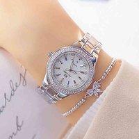 Designer luxo marca relógios dourados mulheres pulso vestido mulheres cristal diamante de aço inoxidável relógio de prata montre femme