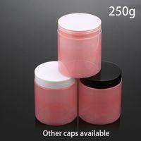 Storage Bottles & Jars 10pcs 250ml Empty Plastic Pink Jar 9oz Cosmetic Makeup Cream Body Lotion Container 250g Candy Sugar Coffee Tea Bottle