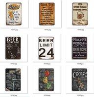 Peinture en métal Poster de la bière Corona Extra Tin Signes Rétro Stickers muraux Décoration Art Plaque Vintage Home Decor Bar Café par mer GWB10724