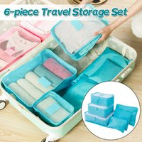 Storage Bags 6pcs Waterproof Travel Bag Clothes Packing Cube Luggage Organizer Sets Nylon Home Accessories