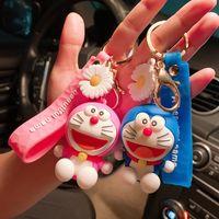 Dessin animé Dingdang Cat Poupée Chaîne Touche NET Couple rouge Doraemon Schoolbag Pendentif Cadeau