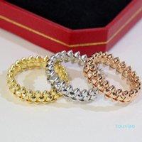 316L Titanium CLASH DE Couple Ring Fashion Wedding Rose Gold Thanksgiving Gift Box