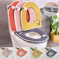 Toilet Seat Covers Cover Winter Plush Soft Cushion Household Bathroom Accessories