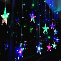 Strings 2.5M Star String Lights LED Christmas Garland Fairy Curtain Light Outdoor Indoor For Bedroom Home Party Wedding Ramadan Decor