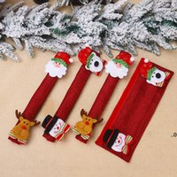 4 pcs Fridge Handle Covers Christmas Decorations Microwave Oven Dishwasher Door Handles Cover Burlap Refrigerator Handle-Cover FWA7528