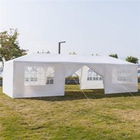 Shade Buildings Patio, Lawn Garden Home & Garden10X30Ft 8 Sides 2 Doors Outdoor Canopy Party Wedding Tent White 3X9M Gazebo Pavilion With Sp