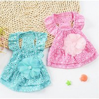 Dog Apparel Summer Clothes Puppy Dress Pomeranian Puppies Cotton Sling Pet Grooming Korean For Small Dogs