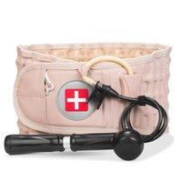 Decompression Lumbar Support Tactical Belt Waist Air Traction Brace Spinal Back Relief Backache CQB Pain Massager Unisex