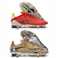 Hediye Çantası Mens Yüksek Futbol Çizmeler X Speedflow FG Firma Zemin Cleats Ghosted Eğitmenler Erkekler F50 Açık Messi Speedflow.1 Kırmızı Futbol Ayakkabıları