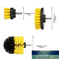 3Pcs Grout Power Scrubber Cleaning Brush Tub Cleaner Combo Tool Kit Yellow Dropshipping June#5